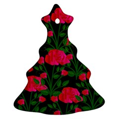 Roses At Night Ornament (christmas Tree)