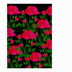 Roses At Night Small Garden Flag (two Sides)