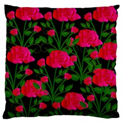 Roses At Night Large Cushion Case (one Side)