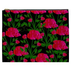 Roses At Night Cosmetic Bag (xxxl)