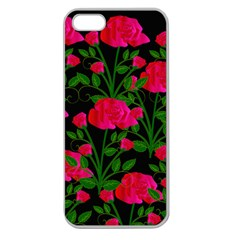 Roses At Night Apple Seamless Iphone 5 Case (clear)