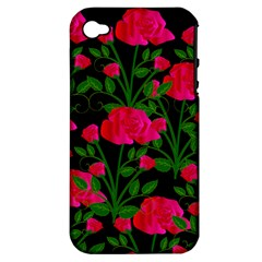 Roses At Night Apple Iphone 4/4s Hardshell Case (pc+silicone)