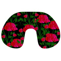 Roses At Night Travel Neck Pillows