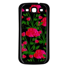Roses At Night Samsung Galaxy S3 Back Case (black) by snowwhitegirl