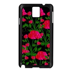 Roses At Night Samsung Galaxy Note 3 N9005 Case (black)