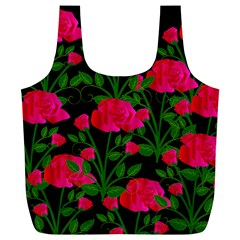Roses At Night Full Print Recycle Bag (xl)
