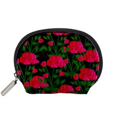 Roses At Night Accessory Pouch (small)