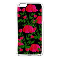 Roses At Night Apple Iphone 6 Plus/6s Plus Enamel White Case