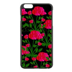 Roses At Night Apple Iphone 6 Plus/6s Plus Black Enamel Case by snowwhitegirl
