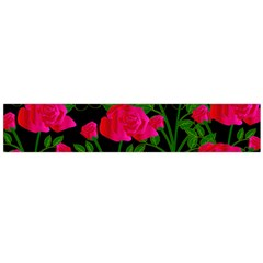 Roses At Night Large Flano Scarf