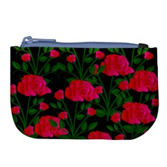 Roses At Night Large Coin Purse