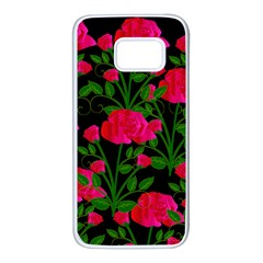 Roses At Night Samsung Galaxy S7 White Seamless Case