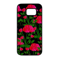 Roses At Night Samsung Galaxy S7 Edge Black Seamless Case