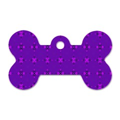 Bold Geometric Purple Circles Dog Tag Bone (one Side) by BrightVibesDesign