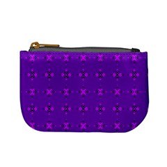 Bold Geometric Purple Circles Mini Coin Purse by BrightVibesDesign