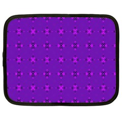 Bold Geometric Purple Circles Netbook Case (xl) by BrightVibesDesign