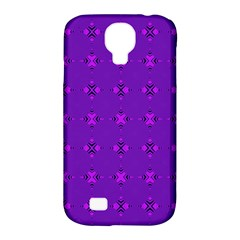 Bold Geometric Purple Circles Samsung Galaxy S4 Classic Hardshell Case (pc+silicone) by BrightVibesDesign