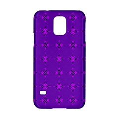 Bold Geometric Purple Circles Samsung Galaxy S5 Hardshell Case  by BrightVibesDesign