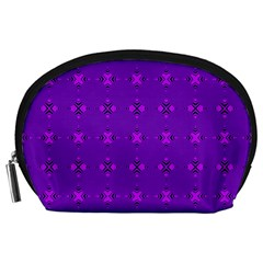 Bold Geometric Purple Circles Accessory Pouch (large) by BrightVibesDesign
