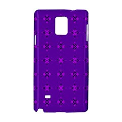 Bold Geometric Purple Circles Samsung Galaxy Note 4 Hardshell Case