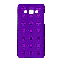 Bold Geometric Purple Circles Samsung Galaxy A5 Hardshell Case  by BrightVibesDesign
