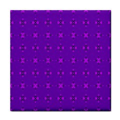Bold Geometric Purple Circles Tile Coasters by BrightVibesDesign