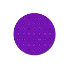 Bold Geometric Purple Circles Magnet 3  (round) by BrightVibesDesign