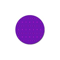 Bold Geometric Purple Circles Golf Ball Marker (4 Pack) by BrightVibesDesign