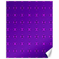 Bold Geometric Purple Circles Canvas 16  X 20  by BrightVibesDesign
