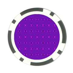 Bold Geometric Purple Circles Poker Chip Card Guard (10 Pack) by BrightVibesDesign