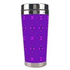Bold Geometric Purple Circles Stainless Steel Travel Tumblers