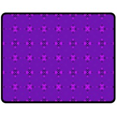 Bold Geometric Purple Circles Double Sided Fleece Blanket (medium)  by BrightVibesDesign