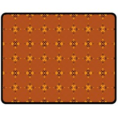 Bold  Geometric Yellow Circles Sm Double Sided Fleece Blanket (medium)
