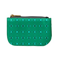 Modern Bold Geometric Green Circles Sm Mini Coin Purse by BrightVibesDesign