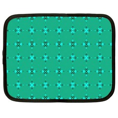 Modern Bold Geometric Green Circles Sm Netbook Case (xl) by BrightVibesDesign