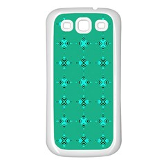 Modern Bold Geometric Green Circles Sm Samsung Galaxy S3 Back Case (white) by BrightVibesDesign