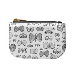 Hand Drawn Butterflies Pattern Coin Change Purse
