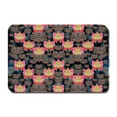 Heavy Metal Meets Power Of The Big Flower Plate Mats by pepitasart