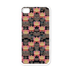 Heavy Metal Meets Power Of The Big Flower Apple Iphone 4 Case (white)
