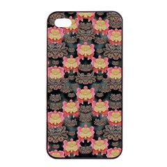 Heavy Metal Meets Power Of The Big Flower Apple Iphone 4/4s Seamless Case (black) by pepitasart