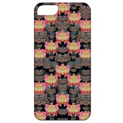 Heavy Metal Meets Power Of The Big Flower Apple Iphone 5 Classic Hardshell Case by pepitasart