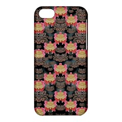 Heavy Metal Meets Power Of The Big Flower Apple Iphone 5c Hardshell Case by pepitasart