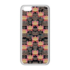 Heavy Metal Meets Power Of The Big Flower Apple Iphone 5c Seamless Case (white) by pepitasart