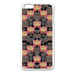 Heavy Metal Meets Power Of The Big Flower Apple Iphone 6 Plus/6s Plus Enamel White Case by pepitasart