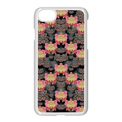 Heavy Metal Meets Power Of The Big Flower Apple Iphone 7 Seamless Case (white)