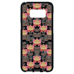 Heavy Metal Meets Power Of The Big Flower Samsung Galaxy S8 Black Seamless Case