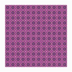 Floral Circles Pink Medium Glasses Cloth (2 Side) by BrightVibesDesign