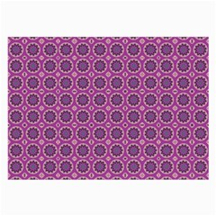 Floral Circles Pink Large Glasses Cloth by BrightVibesDesign