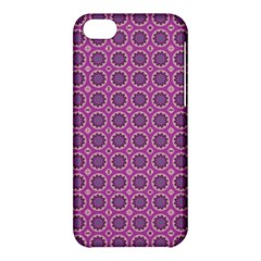 Floral Circles Pink Apple Iphone 5c Hardshell Case by BrightVibesDesign