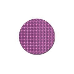 Floral Circles Pink Golf Ball Marker (4 Pack) by BrightVibesDesign